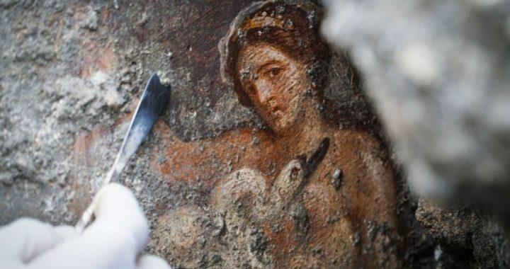 Arte encontrada nas ruínas de Pompeia