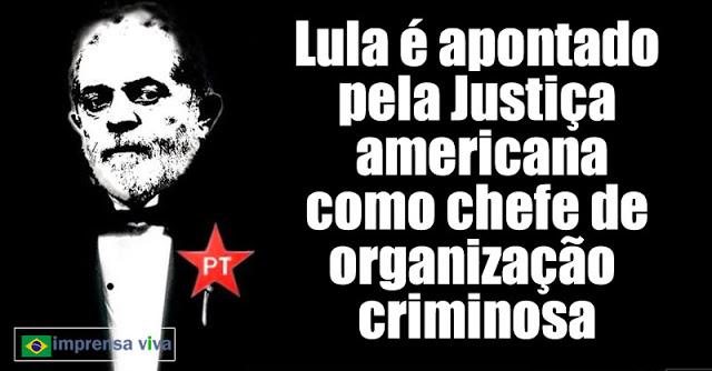Ao revelar ao mundo que Lula é o chefe da organização criminosa chamada PT.